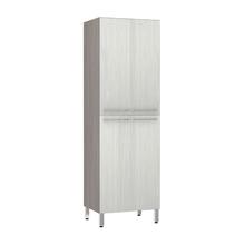 Paneleiro de Cozinha Duplo 220x70x53cm Frassino Bianco Prime Luciane