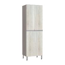 Paneleiro de Cozinha Duplo 220x70x53cm Legno Crema Prime Luciane
