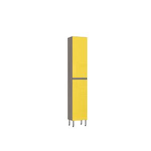 Paneleiro de Cozinha Raso 220x40x31cm Amarelo  Prime Luciane