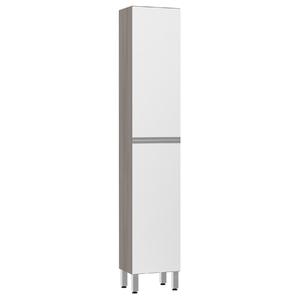 Paneleiro de Cozinha Raso 220x40x31cm Branco Prime Luciane