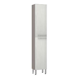 Paneleiro de Cozinha Raso 220x40x31cm Frassino Bianco Prime Luciane