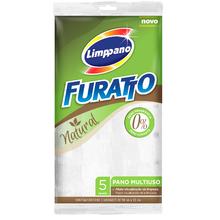 Pano Furatto Natural Branco 5 Unidades Limppano