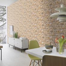 Papel de Parede Duplex Pedra Rústica Marrom Rolo com 10m Inspire