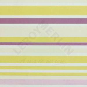 Papel de Parede Girls Listrado 0,53x10m Lilás/Verde Art Papier