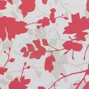 Papel de Parede Home Floral 0,53x10m Vermelho/Branco Art Papier