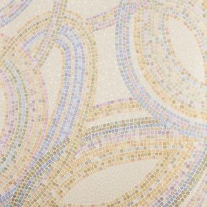 Papel de Parede Mosaico Bege 0,53x10m Glass Mosaic