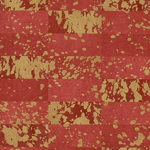 Papel de Parede Sob Encomenda TNT Cow Spots Pattern Vermelho Rolo com 10m