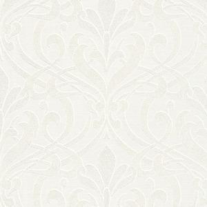 Papel de Parede Sob Encomenda TNT Kingston Arabesco Branco Rolo com 10m