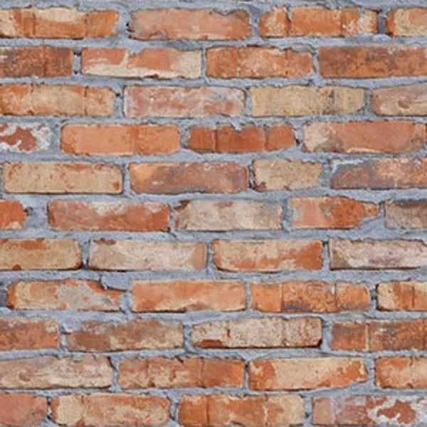 Papel de parede vinilizado tijolo r stico laranja rolo com - Papel para pared leroy merlin ...