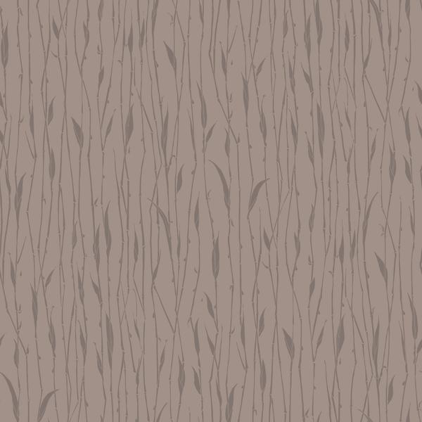 Papel de parede vin lico folhas marrom rolo com 9 5m - Papel vinilico leroy merlin ...