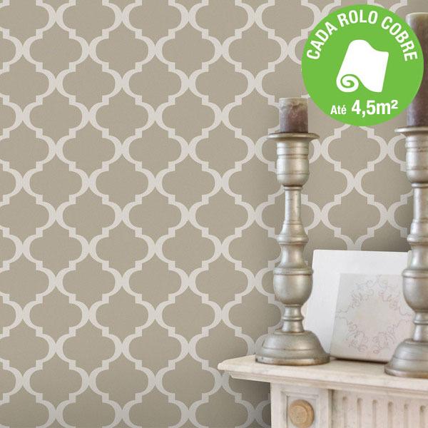papel de parede vinilizado hidráulico inspire cinza rolo com 10m