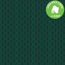 Papel de Parede Vinilizado Tropical Night Flat Preto e Verde Rolo com 10m