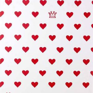 Papel Parede Princess 0,52X10m Vermelho e Branco Plavitec