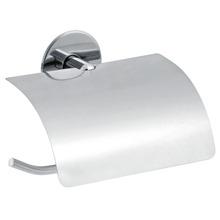 Papeleira Simples Parafuso com Tampa Silver Prata