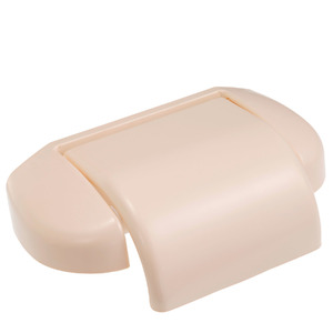 Papeleira Simples Parafuso com Tampa Toilette Marfim