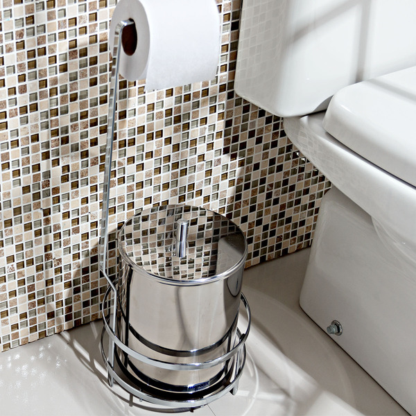 Porta papel higi nico metal simples perfezione future for Portarrollos papel higienico leroy merlin