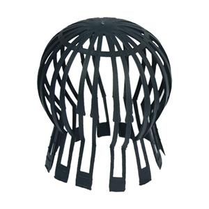 Parafolhas Calha 60°/120° 15x10cm PVC Preto Odem