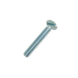 Parafuso de Aço para Metal 3,5x25,4mm Máquina Chata Fenda 10 peças