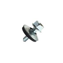 Parafuso de Aço para Metal 5,5x22mm Auto Brocante Sextavada Fenda 6 peças