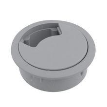 Passa Fio Cinza 60mm Plástico Hettich