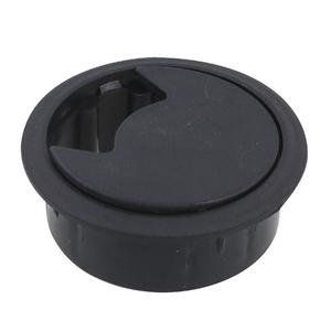 Passa Fio Preto 60mm Plástico Hettich