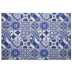 Passadeira Azulejo Português Azul 15x0,43m