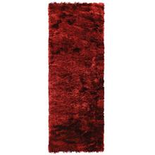 Passadeira Shaggy Shine Vermelha 0,70x2,00m