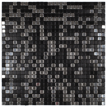 Pastilha Autoadesiva AL900 Preta 30,5x30,5cm Glass Mosaic