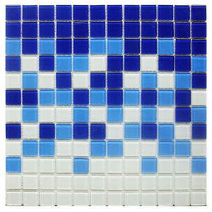 Pastilha Azul e Branco 30X30cm Vetromani