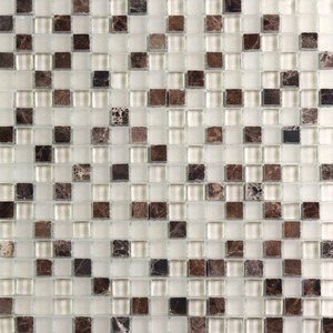 Pastilha Cristal Stone Mix Bege 30x30 cm Vetromani