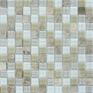 Pastilha Cristal Stone Mix Branco 30x30 cm Vetromani