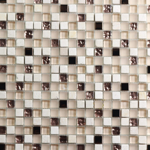 Pastilha Cristal Stone Mix Dourado 30x30 cm Vetromani
