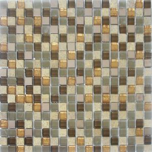 Pastilha Cristal Stone Mix Ocre 30x30 cm Vetromani