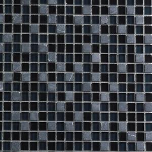Pastilha Cristal Stone Mix Preto e Cinza 30x30 cm Vetromani