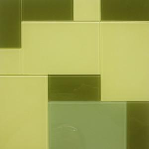 Pastilha Cristal Verona Mix Bege e Verde 30x30 cm Vetromani