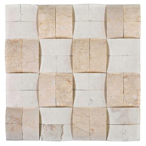 Mosaico relevo natus bege 30x30cm colortil leroy merlin for Leroy merlin mosaico decorativo