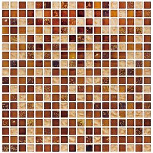 Pastilha de Pedra/Vidro Cobre FUS36 30x30cm Colortil