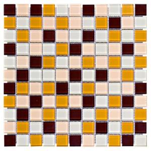 Pastilha de Vidro Bege MIX-02 30x30cm Colortil