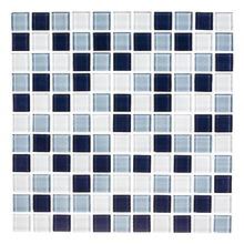 Pastilha de Vidro Mescla Lazuli 30x30cm Vidro Real