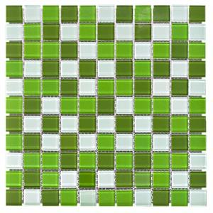Pastilha de Vidro Verde MIX-03 30x30cm Colortil