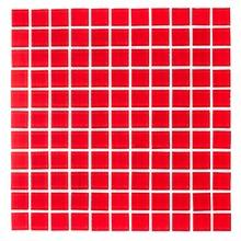 Pastilha de Vidro Vermelha 30x30cm Vidro Real