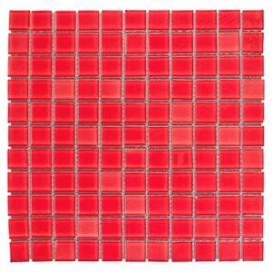Pastilha de Vidro Vermelha CM01 30x30cm Colortil