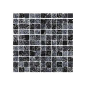 Pastilha IC02 Preta 30x30cm Glass Mosaic