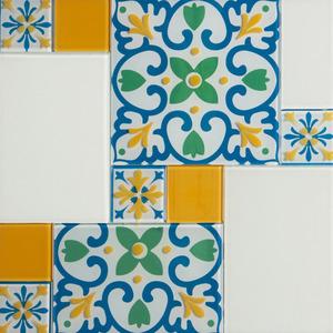 Pastilha Ladrilho Bergamo Colorido 31,5X31,5 cm Vetromani