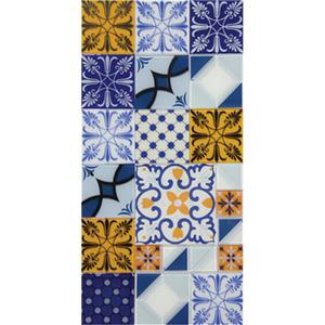 Pastilha Ladrilho Patchwork Colorido 30x30 cm Vetromani