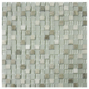 Pastilha Mix Stone Carrara 30X30cm Vetromani