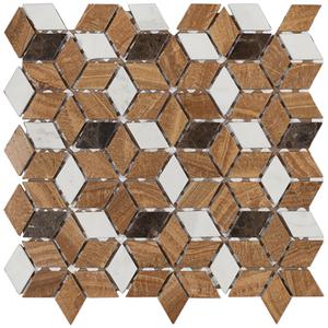 Pastilha MR36 34x34cm Glass Mosaic