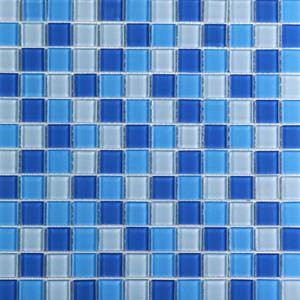 Pastilha Orient Branco e Azul 30x30 cm Vetromani