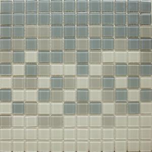 Pastilha Orient Cinza, Branco e Preto 30x30 cm Vetromani