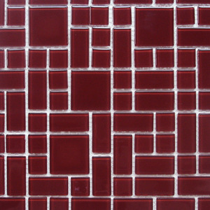 Pastilha Orient Modena Vermelho 30x30 cm Vetromani